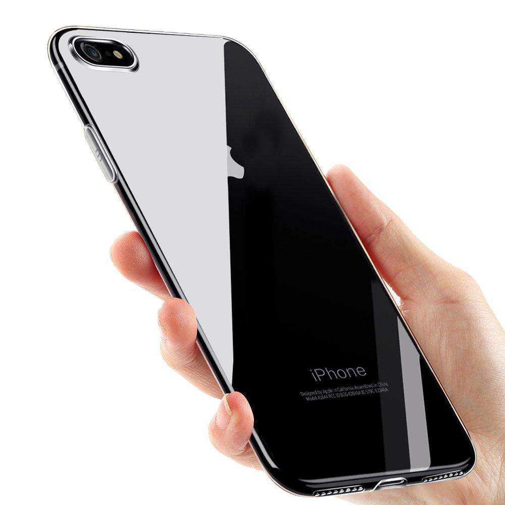vitutech iPhone 8 Handyhülle, iPhone 7 Hülle, Silikon Hülle iPhone 7/ iPhone 8 Schutzhülle Kratzfest TPU Bumper Case Weiche Schutzhülle für iPhone 7 / iPhone 8 Cover - Schwarz iPhone 7 Hülle iP7/8TPUSFB