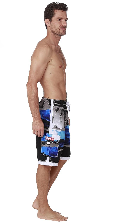 1c678cb6a038e INGEAR Men's Quick Dry Swim Trunks Cargo Water Shorts with Mesh Lining |  Amazon.com
