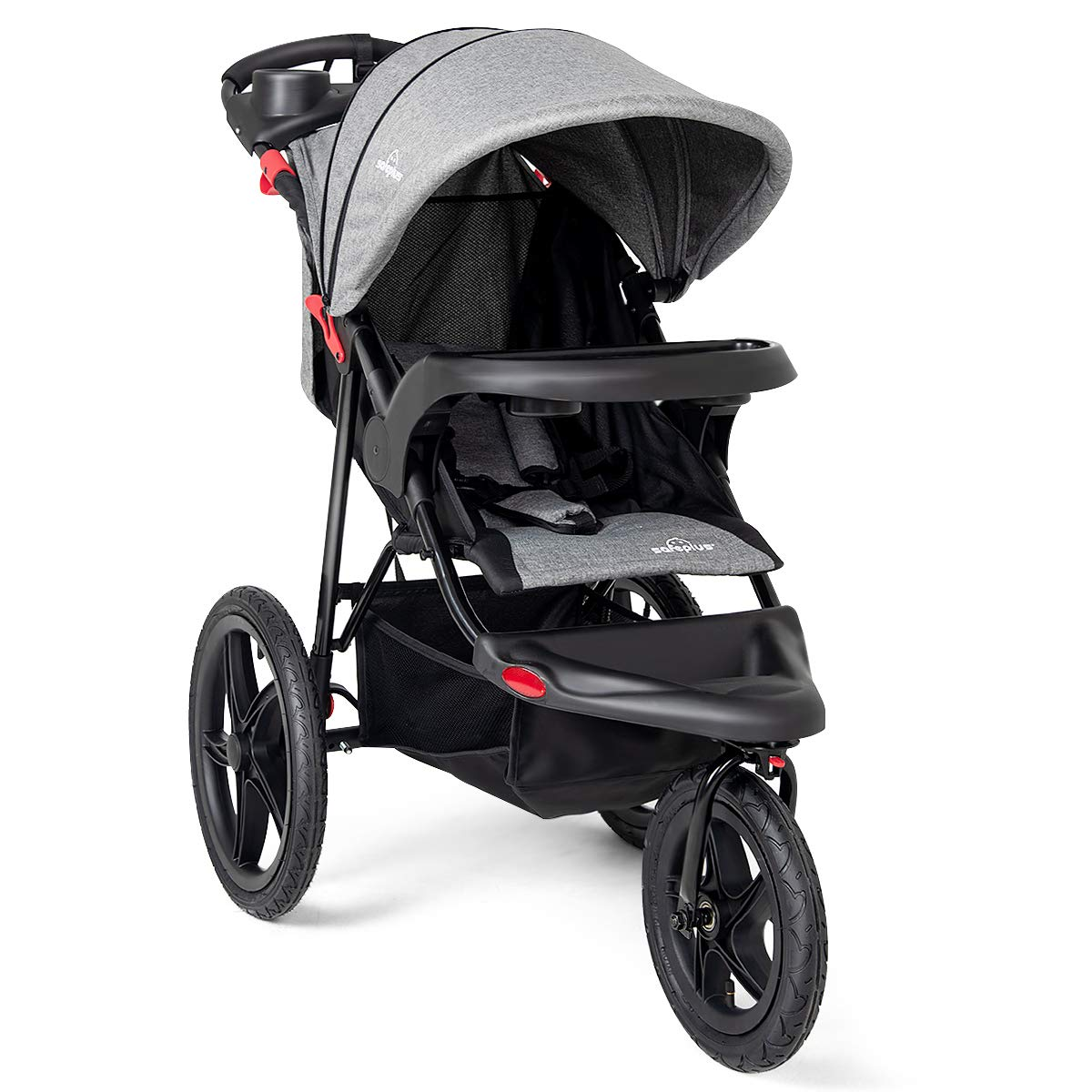 Costzon Baby Jogger Stroller Lightweight w/Cup Phone Holder (Black) FWAM-00963