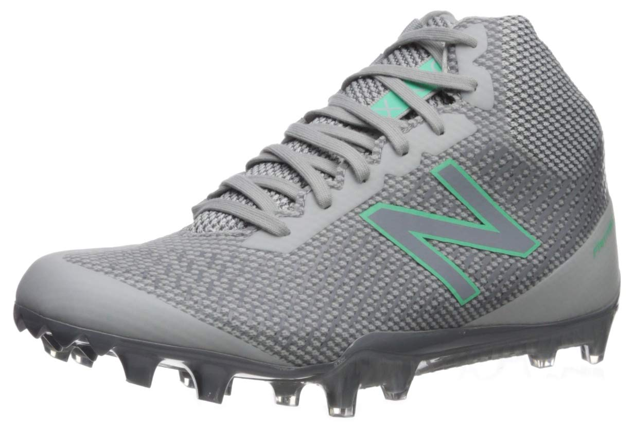 New Balance Women's Burn X 1 Speed Lacrosse Shoe, Grey/White, 6.5 D US
