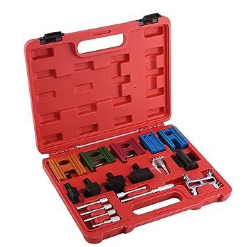 19 pcs Universal coche motor Polea Correa de distribución levas herramienta de bloqueo volante Set Kit