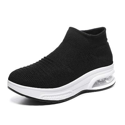 Women's Slip-on Walking Shoes - Air Cushion Mesh Casual Work Nursing Shoes Easy Fashion Sneakers Tennis Shoes   Walking