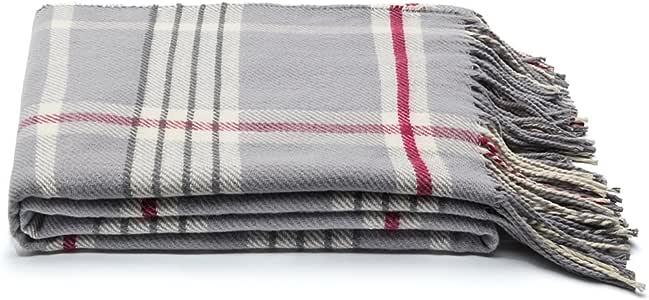 SPENCER&WHITNEY Lightweight Polyester Blanket All Season Use 100 Polyester Fiber Blanket Plush Soft Throw Blanket