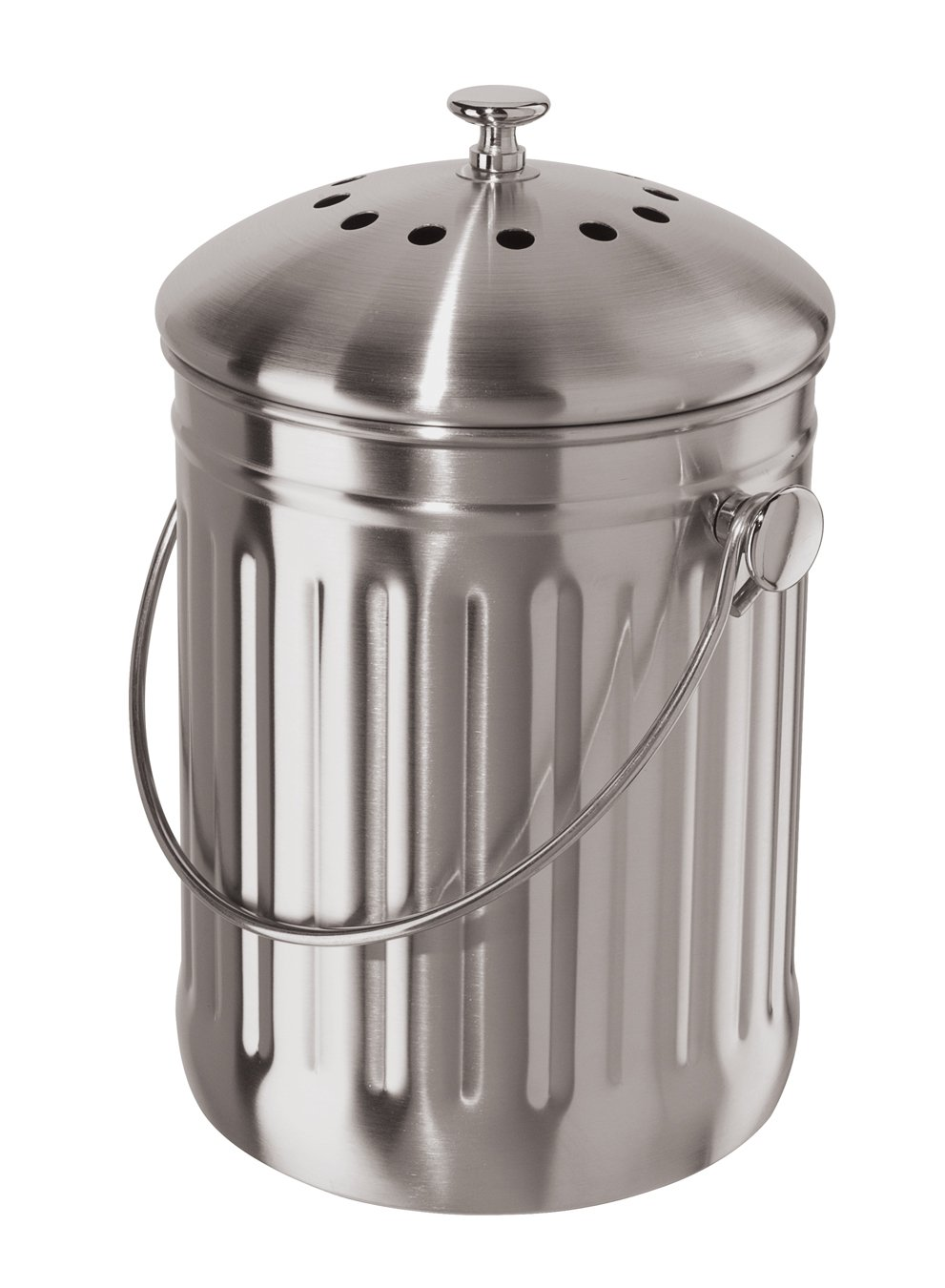 Oggi Stainless Steel Counter Composter with Charcoal Filter 7320