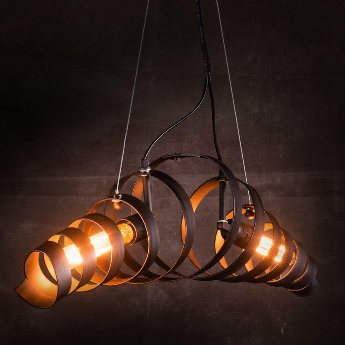 Retro Retro Retro Vintage Kronleuchter Kronleuchter Spirale Light Hängeleuchte Eisen Lampe Industrielle Hängelampe, Kuyiyilo c9be0c