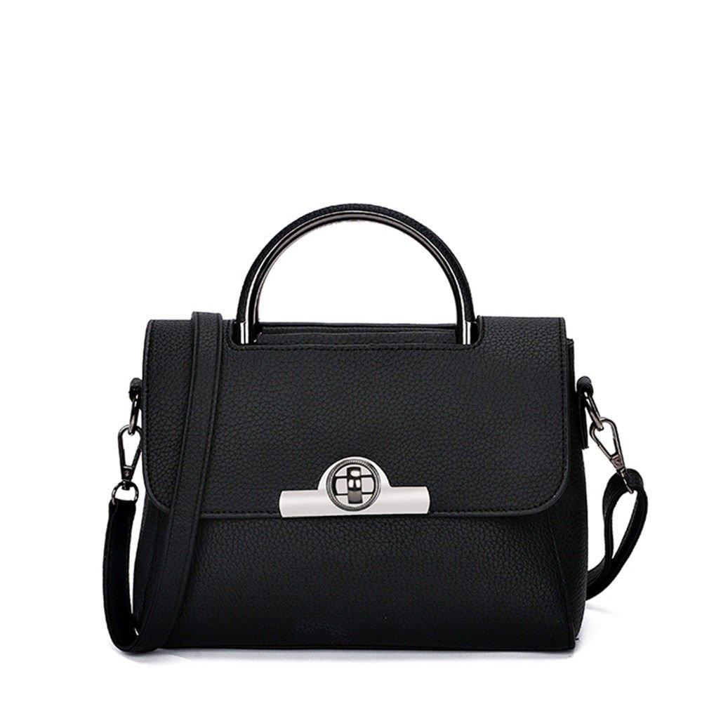 SJMMBB Handbag For Casual Shoulder Bag,Black,26X20X13Cm