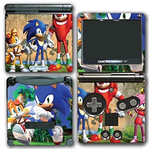 (Sonic Boom Hedgehog Tails Amy Knuckles Eggman Shattered Crystal Fire & Ice Video Game Vinyl Decal Skin Sticker Protector Cover for Nintendo GBA SP Gameboy Advance System)