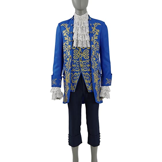 Mens Aristocrat Suit Bete Prince Charming Halloween Costumes Cosplay Full Set  sc 1 st  Amazon.com & Amazon.com: Mens Aristocrat Suit Bete Prince Charming Halloween ...