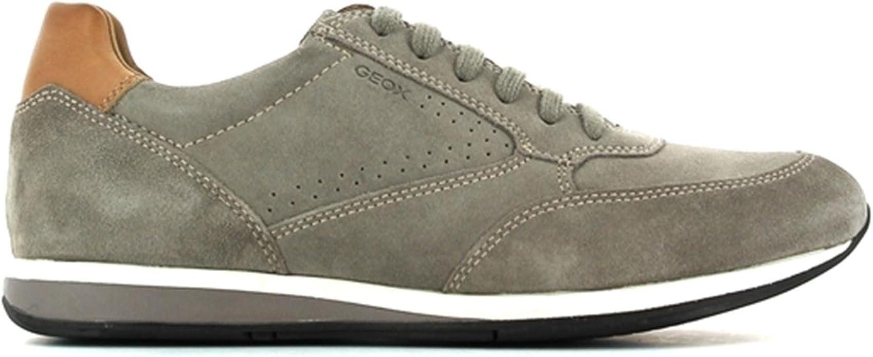 Geox , Herren Sneaker Beige Taupe, Beige Taupe Größe: 41