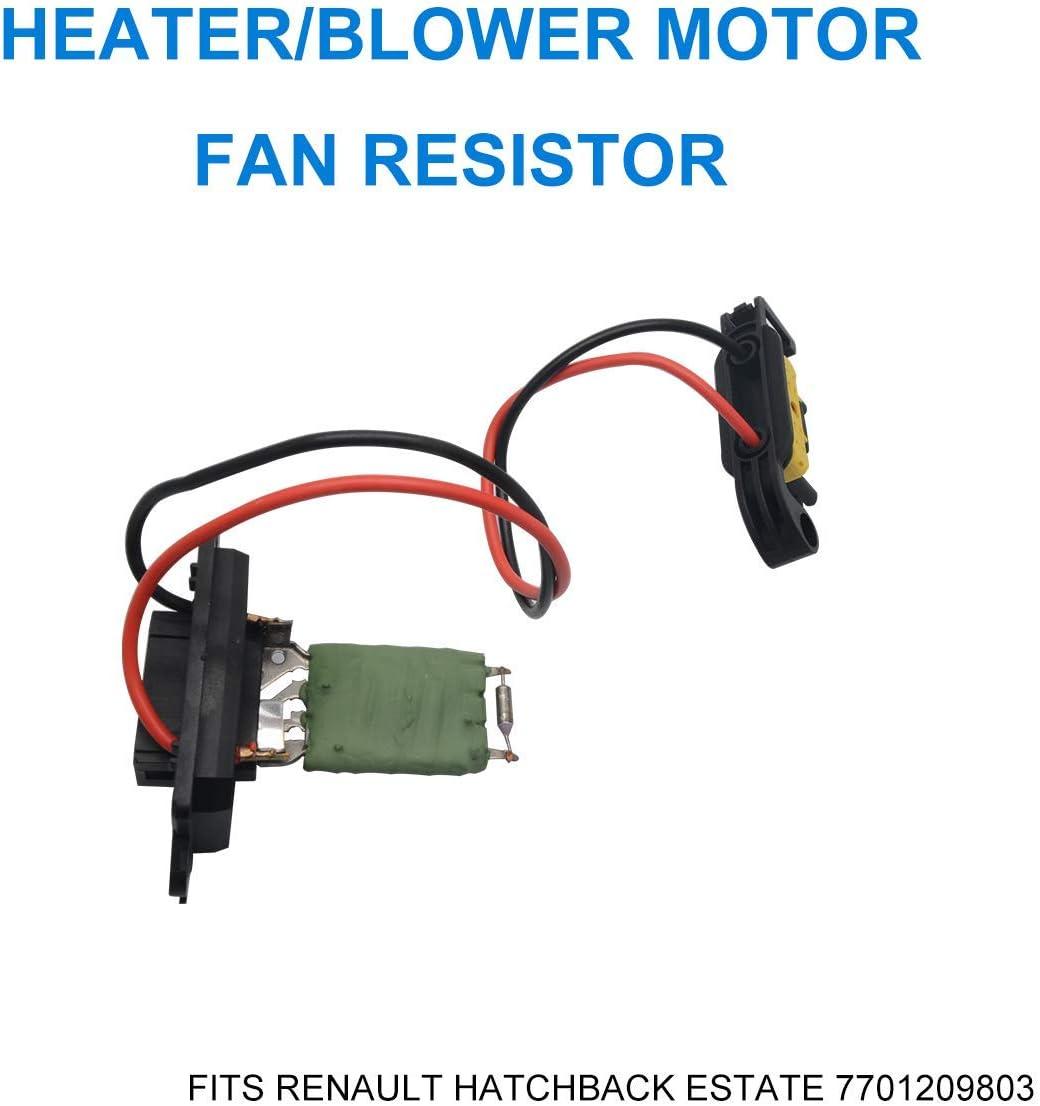 HugeAuto 7701209803 R/ésistance de moteur de ventilateur//chauffage Compatible avec Re Nault//Re Nault Clio MK3 Modus