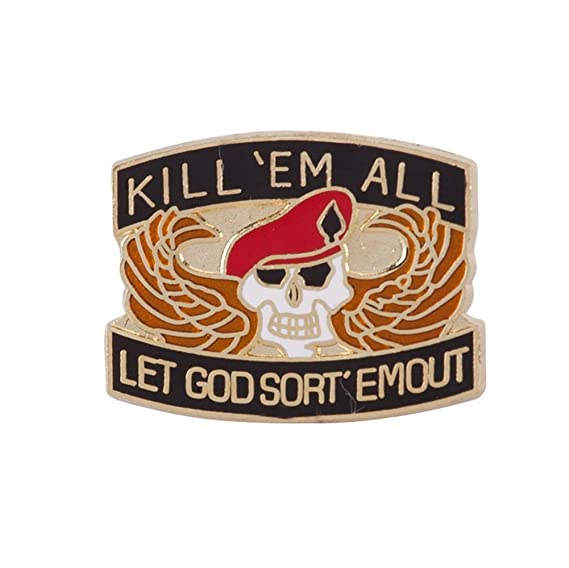 Cloisonne Enamel Military Pins - Killem All OSFM: Amazon ca
