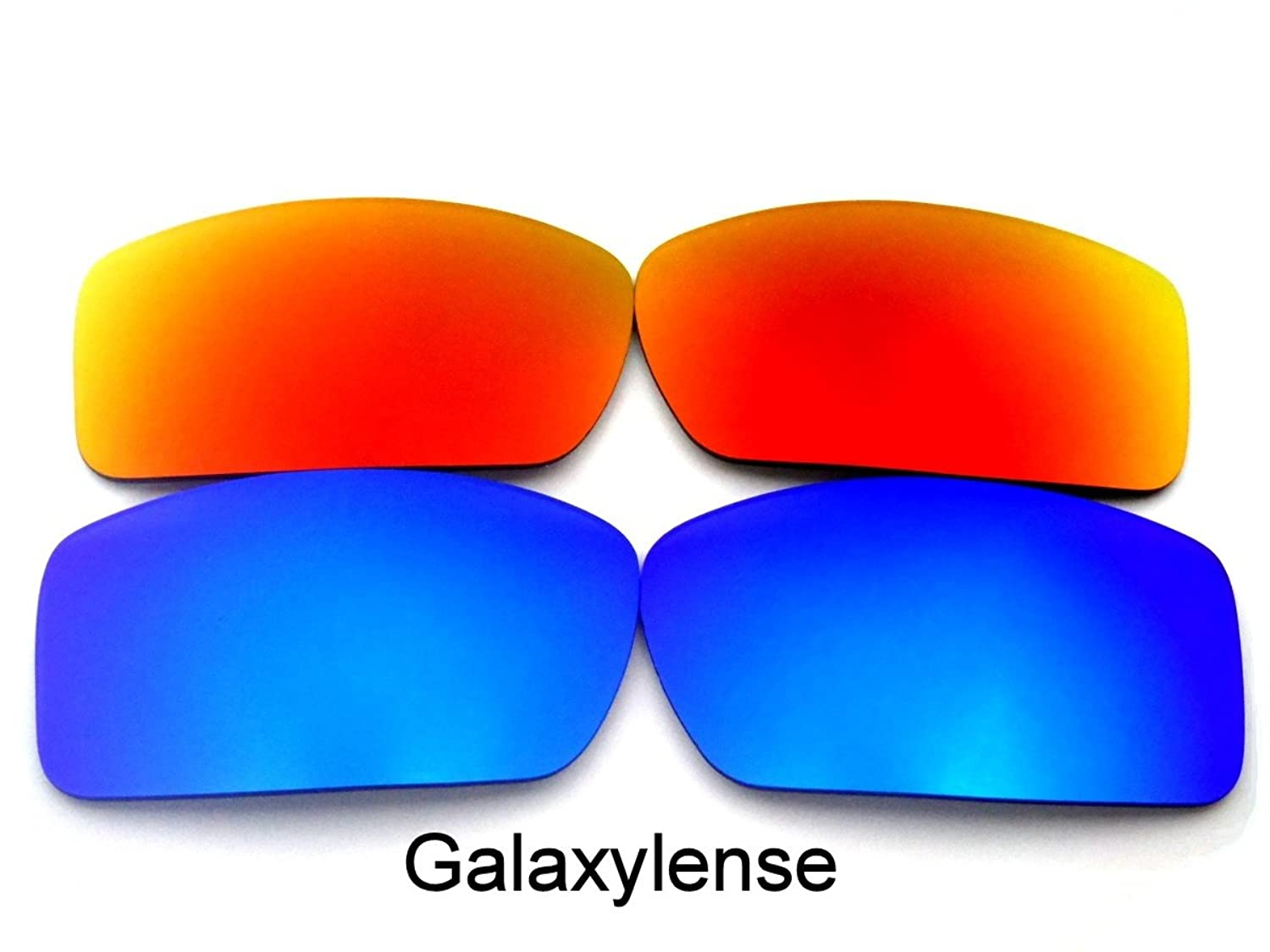 Galaxy Replacement Lenses for Oakley Gascan Blue&Red Color Polarized 2 Pairs