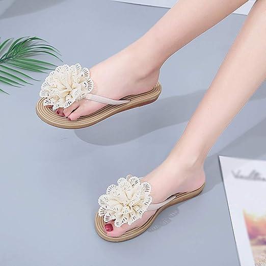 7abfeb99f169a Amazon.com: Dressin Women's Bohemian Flats Flip Flops Shoes Ethnic ...