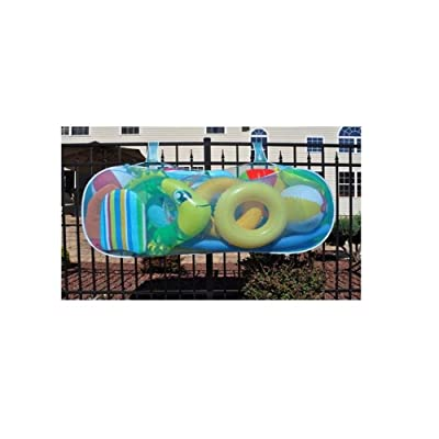 "POUCH812 Pool Blaster Swimming Pool Raft Float Toy Pouch Holder 60"" L x 12"" W x 30"" H: Garden & Outdoor"