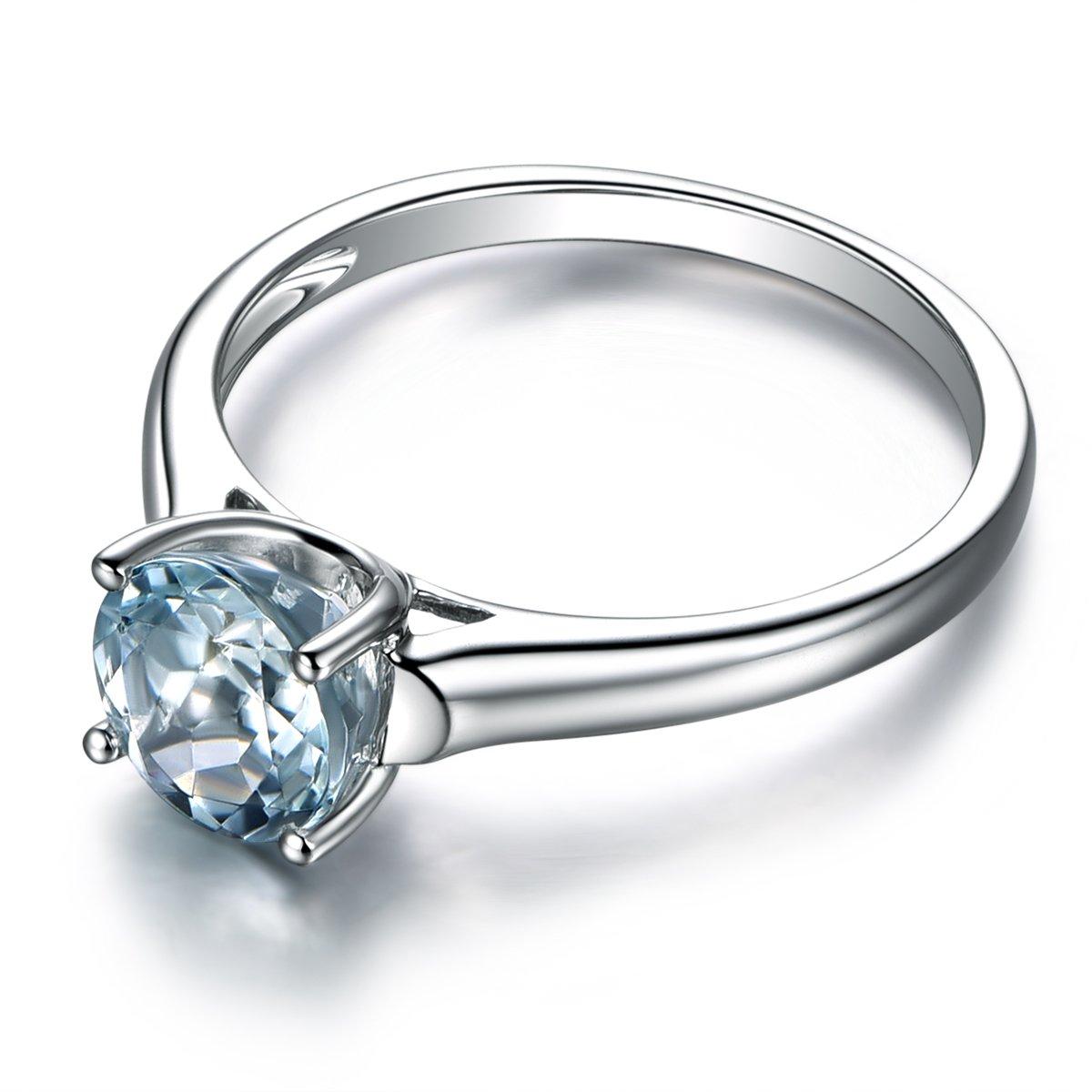 ecaf29e853167 Amazon.com: MYRAYGEM-wedding ring sets Aquamarine Engagement Ring ...