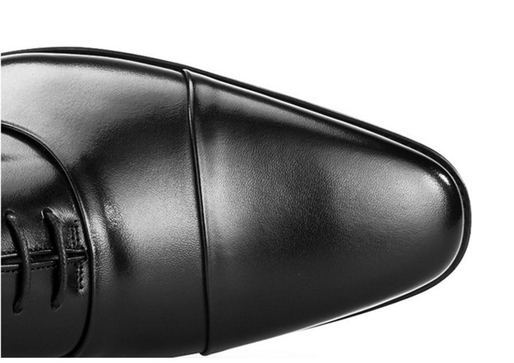 XIE Herrenschuhe quadratischen Kopf drei Gelenke handgemachte Schuhe der ersten Herrenschuhe Schicht Leder Business-formelle Abnutzung Herrenschuhe ersten Lederschuhe37-44 schwarz 999d8c