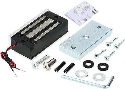 Imagen deKKmoon Cerradura magnética eléctrica con fuerza de retención para el sistema de control de acceso a la puerta NC 60kg 130lbs forma 2