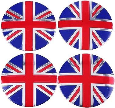 UK British Flag Metal Car Auto Truck Wheel Center Hub Caps Sticker Emblems Cover