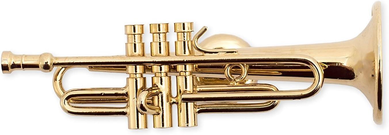 Size 3.25 inch Gold Tenor Saxophone Miniature Replica Magnet