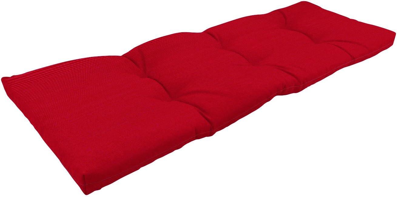 Best outdoor chair cushion: Amazon Custom Furnishings x Easy Way Products 20353 Custom Tufted Knife Edge Bench Cushion