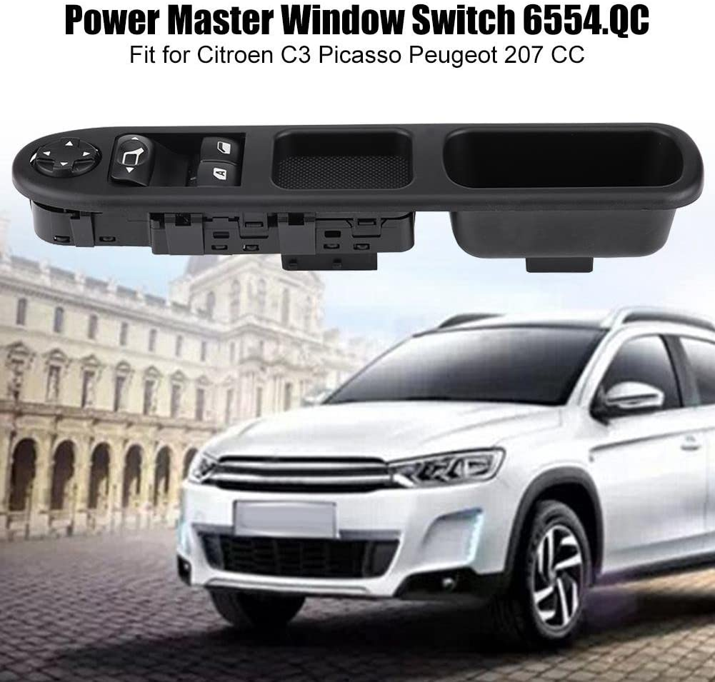 Right Side For Peugeot 207 Citroen C3 Power Master Window Control Console Switch