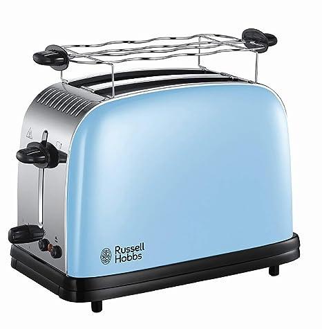 Russell Hobbs Colours Plus - Tostadora (2 Ranuras Anchas, para 2 Rebanadas, Acero Inox, Azul Claro) - ref. 23335-56