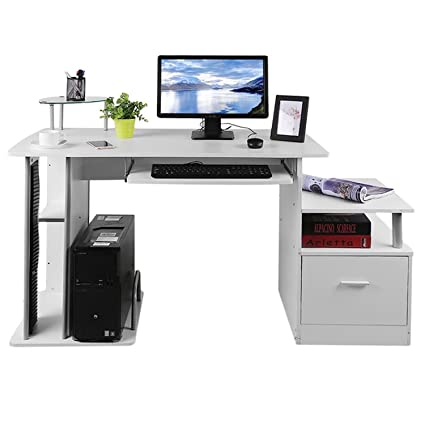 Merveilleux Computer PC Table Home Study Office Table Work Desk Workstation Corner Desk  Furniture With Keyboard Tray