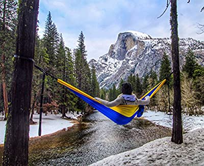 Classic Serac Adventure Hammock with Suspension System - Simple and Quickest Setup (10 Connection Point Tree Straps) - Ultralight & Quality Comfort for Camping, Travel, and Backpacking