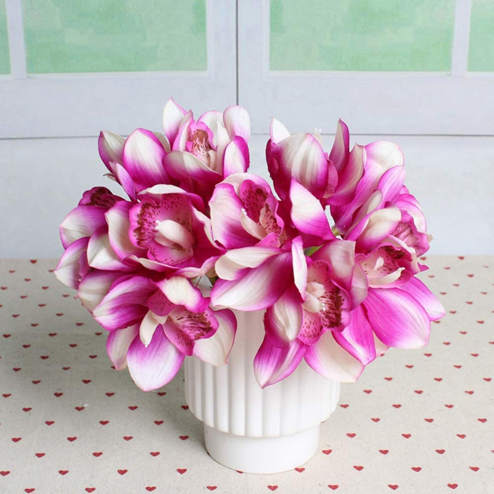 1Pc Artificial Silk Orchid Flower Wedding Bridal Hand Bouquet Home Floral Gift