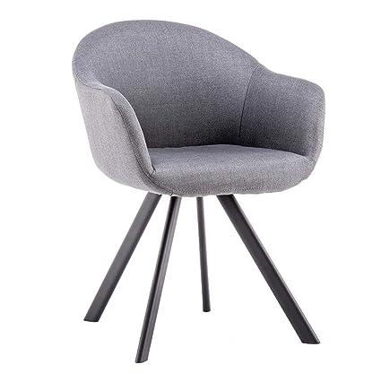 Movian Elbe – Chaise de salle à manger, gris foncé