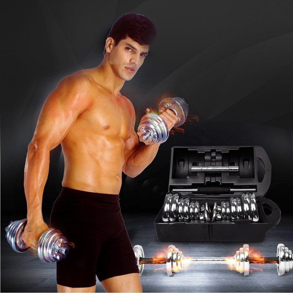 XPH 44,5 kg ajustable equipos de pesas gimnasio cuerpo edificio entrenamiento Fitness, mancuerna (1 par): Amazon.es: Deportes y aire libre