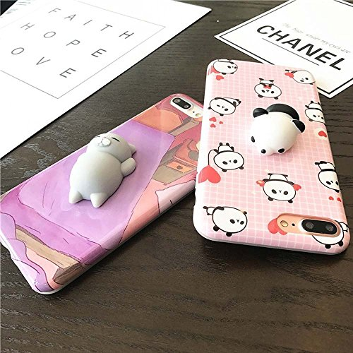 AYAOL 3D Squishy Cat Case for iPhone 6, Kneading Soft Silicone Finger Pinch Cute Mobile Phone Protective Cover for Girls Women Kids