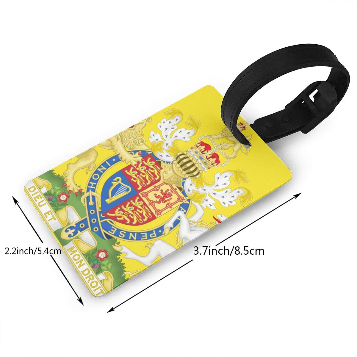 KODW12 Royal Coat of Arms of The United Kingdom Luggage Tag Travel Bag Labels Suitcase Bag Tag Name Address Cards by KODW12 (Image #2)