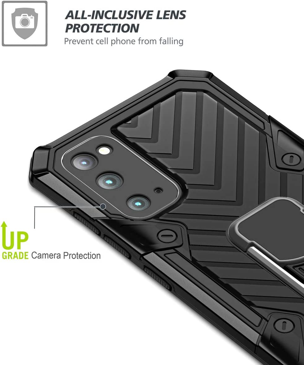 Rojo MOONCASE Funda Galaxy S20 Funda Protectora Doble Capa Carcasa Absorci/ón de Choque con Soporte de Anillo Funda para Samsung Galaxy S20 6.2