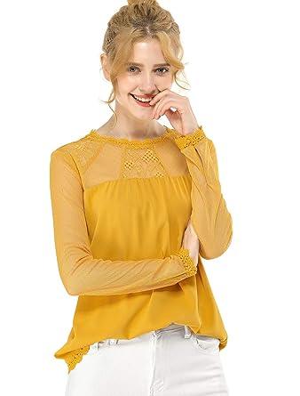 Blusas campesinas de moda con encaje