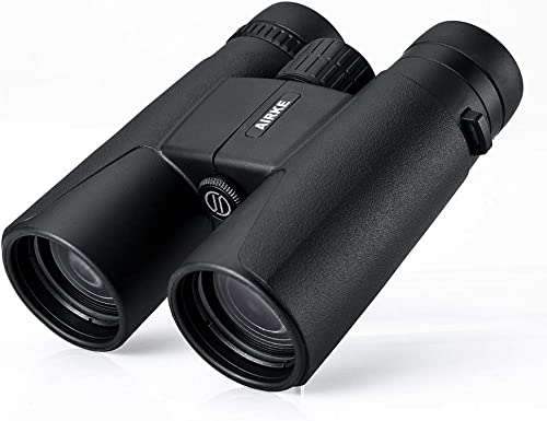 AIRKE 12×42 Binoculars for Adults, Compact HD Professional Binoculars for Bird Watching Travel Stargazing Hunting Concerts Sports, BAK4 Prism FMC Lens with Phone Mount Strap Carrying Bag
