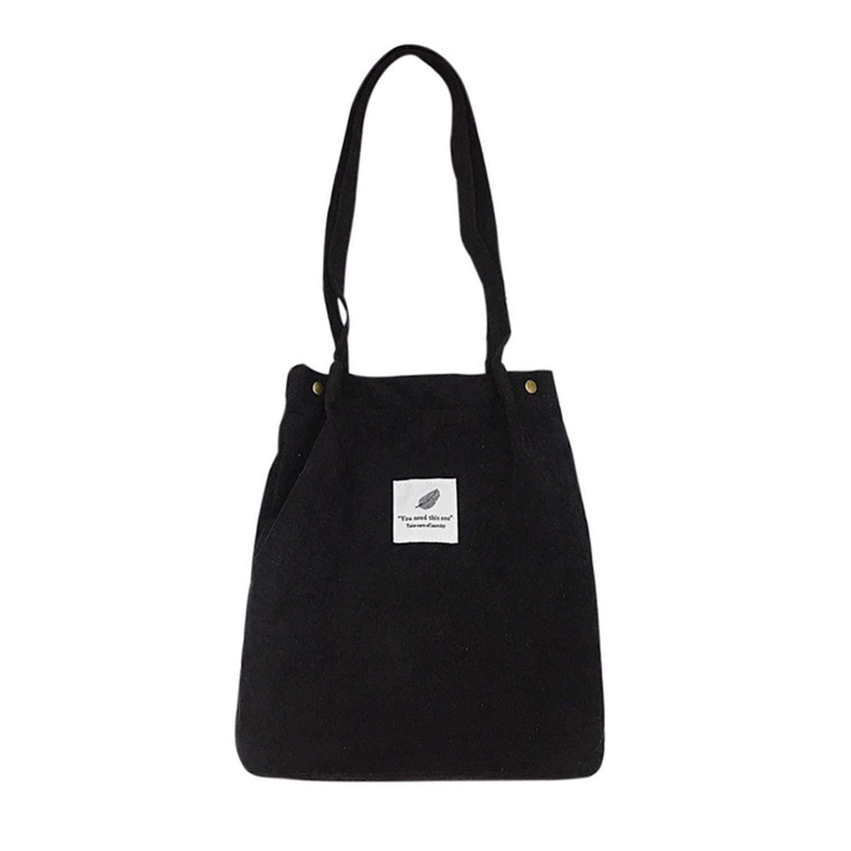 Corduroy Totes Bag - WantGor Women's Shoulder Handbags Big Capacity Shopping Bag
