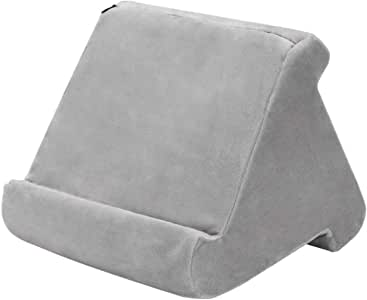Tablet Pillow Lap Stand for Pad AUSELECT iPad Tablet Stand Pillow Holder Triangular Durable Flat Bracket Multi-Angle Soft Support for iPad, Cellphone, Electronic Book Reader and Tablet(Grey)