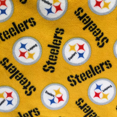 Fleece Print Pittsburgh Steelers Logo 58 Inch Wide Fabric by the Yard (F.E.®) from SteelerMania