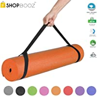 SBZ - SHOPBOOZ Yoga Mat Anti Skid Yogamat for Gym Workout and Flooring Exercise - Long Size Yoga Mat with Strap for Men Women