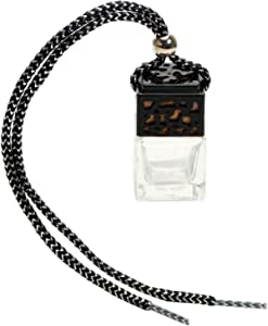 iTimo Car Hanging Perfume Empty Glass Bottle For Essential Oils Diffuser Car-styling Rearview Mirror Ornament Air Freshener Fragrance(Black)