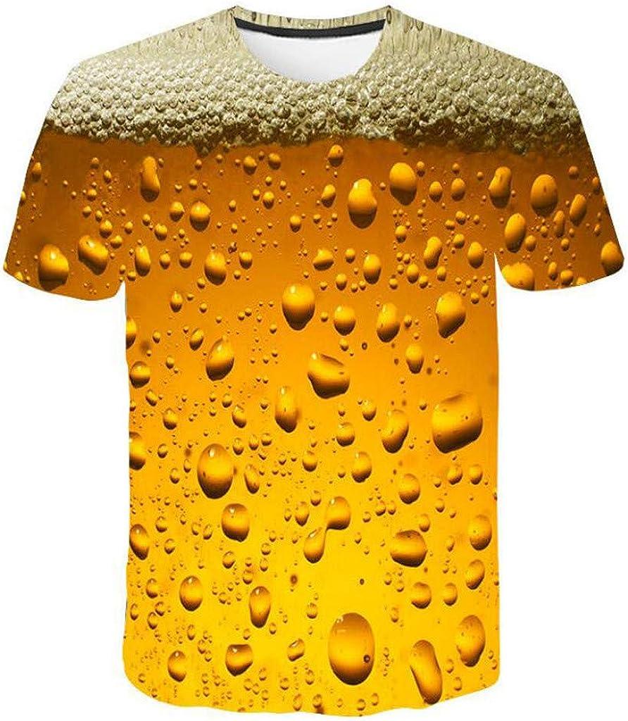 Mens T-Shirt 3D Flood Printed Short-Sleeved Tops Blouse