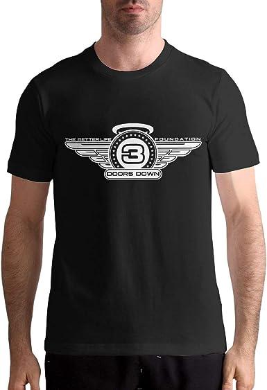 3 Doors Down Shirt Mens Classic Short Sleeve Tees Shirts Tops