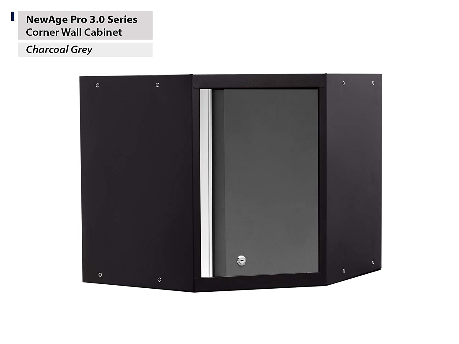 Gray NewAge Products 52001 Pro 3.0 Series Corner Wall Cabinet
