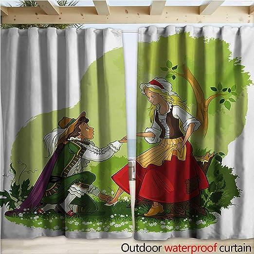 Cortina de pérgola con diseño de Dibujos Animados, para Hombre Mexicano Que Lleva Sombrero de Sombrero Montando un Burro en el Desierto con Plantas de Cactus W108 x L96: Amazon.es: Jardín