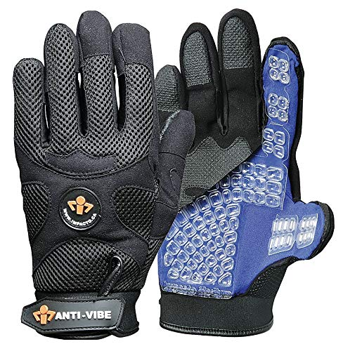 Impacto Anti-Vibration Gloves, Synthetic Fabric, Air Padding Palm Material, Black, 2XL, PR 1 - US40860