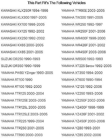 Fits Yamaha YZ125 1992-2006 Tusk Petcock Rebuild Kit