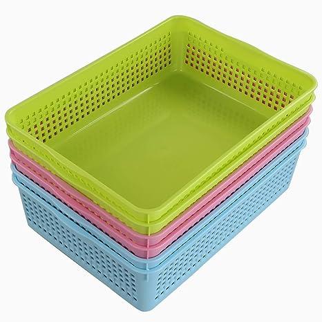 Ponpong Haushaltskorb Plastikkorb Plastik Korb Kunststoff a4 ...