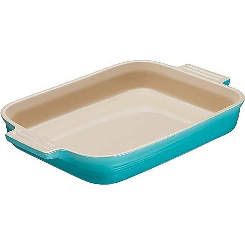 Le Creuset Teal Stoneware Rectangular Dish, 26 cm