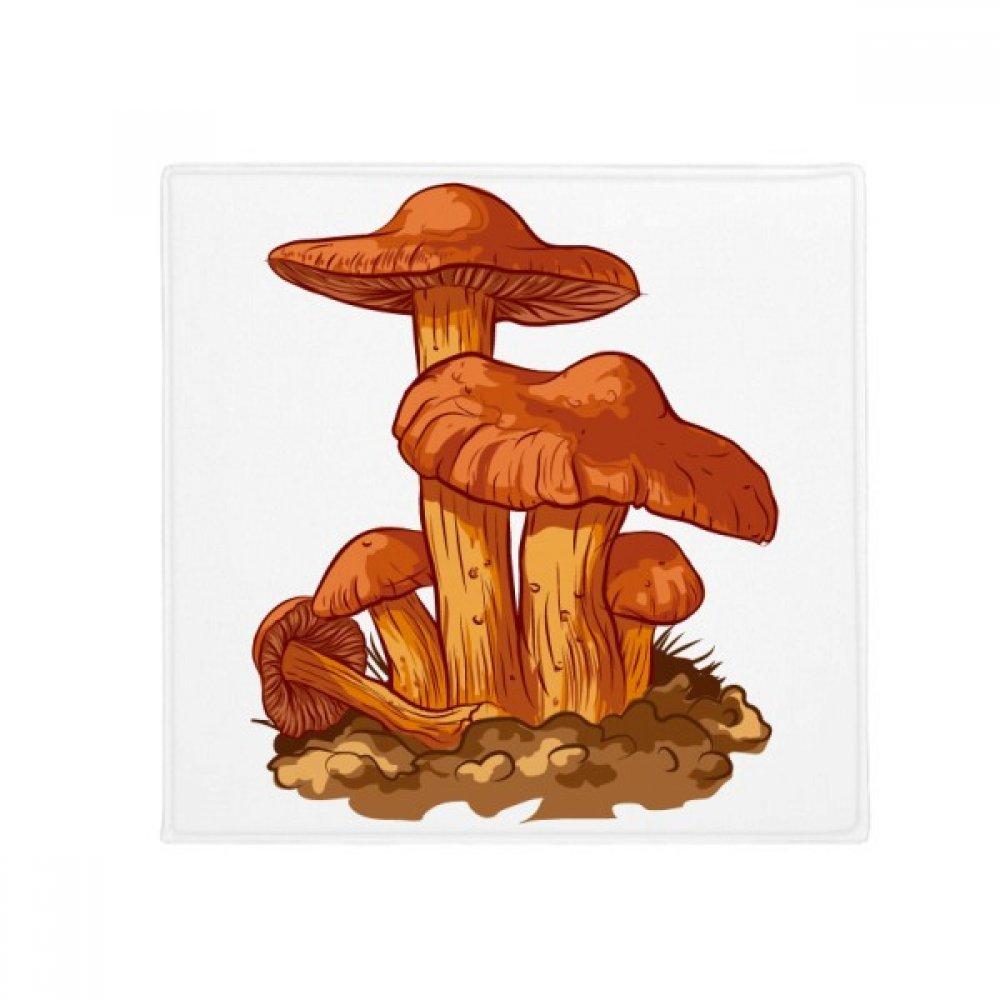 DIYthinker Cute orange Mushroom Creature Illustration Anti-Slip Floor Pet Mat Square Home Kitchen Door 80Cm Gift